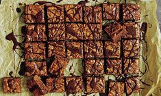 Mary Berry Family Sunday Lunches: Wicked chocolate squares with ganache sauce Mary Berry Desserts, Just Desserts, Chocolate Squares, Chocolate Brownies, Cake Recipes, Dessert Recipes, Bbc Recipes, Party Recipes, Recipies
