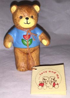 Vintage 1979 Lucy And Me Porcelain Teddy Bear Figurine Enesco Rigg Unbearably