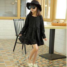 $21.54 (Buy here: https://alitems.com/g/1e8d114494ebda23ff8b16525dc3e8/?i=5&ulp=https%3A%2F%2Fwww.aliexpress.com%2Fitem%2F2015-brand-baby-Girl-dress-lace-new-fashion-autumn-winter-style-Teenage-girls-princess-vestidos-christmas%2F32489331786.html ) brand flowers baby Girls dresses 2016 summer long sleeve lace fashion autumn princess vestidos christmas party wedding clothing for just $21.54