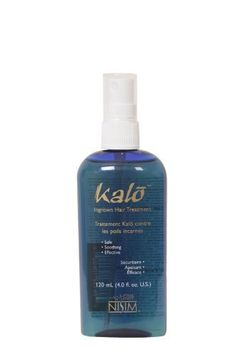 Kalo Ingrown Hair Treatment Spray 4 fl. Oz. by Nisim International. $18.33. Kalo is great for Bodybuilders, Swimmers, Cyclists or anyone who wants a great looking hair free body.. Kalo safely and effectively inhibits unwanted body hair from growing back permanently.. Kalo is effective on facial hair, back hair, leg hair, even safe for sensitive/private areas.. Kalo is the painless solution for hair removal for men or women.. You will never need to deal with waxing, t...