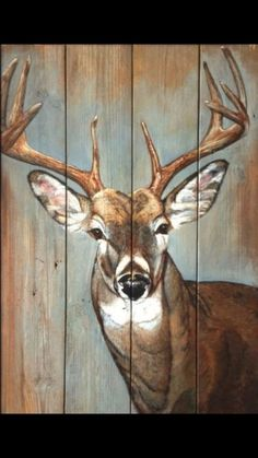 40 Modest Examples of Paintings On Wood Planks - Buzz Modest Examples of Paintings On Wood Planks - Buzz 2018 How To Produce Wood Art ? Wood art is generally the work of shaping about and inside, so lo. Pallet Painting, Pallet Art, Tole Painting, Painting On Wood, Painting & Drawing, Deer Drawing, Acrylic Paint On Wood, Drawing Drawing, House Drawing