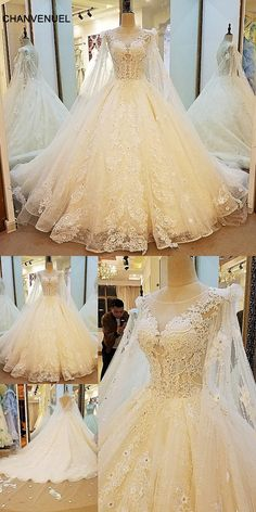 gorgeous bridal gown sexy see through back ball gown lace wedding dress  with long cape vestidos de noiva real photos 539e13bc56ef