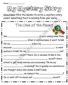 my mystery story freebie...fun filler activity for those kids that always finish early