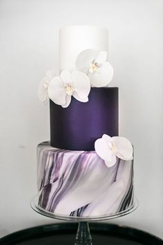 Trendy Marble Wedding Cakes ❤ See more: http://www.weddingforward.com/marble-wedding-cakes/ #weddings