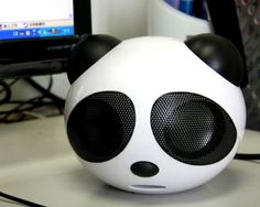 Panda USB speakers (gadgets, ideas, inventions, cool, fun, amazing, new, interesting, product, design, clever, practical, useful, tech, technology, electronic, gizmo, sound, music) #tech #cool #gadget