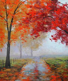 Road through the mist by artsaus.deviantart.com on @deviantART