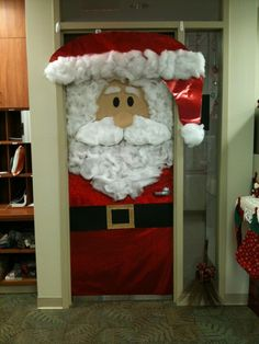 pinterest christmas door decorating ideas | Holiday door decor! This was at work. | Navidad ideas