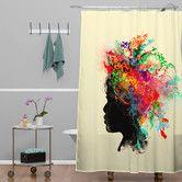 Found it at Wayfair - Budi Kwan Wildchild Shower Curtain Modern Shower Curtains, Contemporary Shower, Modern Baths, Laundry In Bathroom, Bed & Bath, Beautiful Bathrooms, My Dream Home, Dream Homes, All Modern