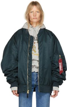 Vetements Reversible Green Alpha Industries Edition Bomber Jacket