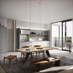 BIG Designs New Apartment Building in Stockholm,© Oscar Properties Big Design, Voxtorp Ikea, Stockholm, Kitchen Interior, Kitchen Design, Oscar Properties, Scandinavian Kitchen, Style Tile, Contemporary Interior Design