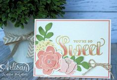 Sweet Simple Stems card with gold embossing and ombre. Jeanna Bohanon 2013 Stampin' Up! Artisan Design Team