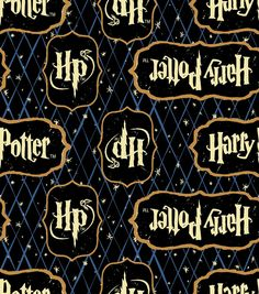 Harry Potter Logo Diamond Flannel Fabric