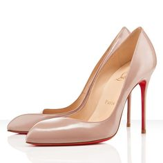 Corneille 100mm Leather Pumps Nude Red Sole Shoes New Release In stock Christian Louboutin French Footwear Finest Materials