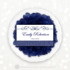 Printable Place Card Weddings Navy Blue Instant by AmeliyCom, $10.00