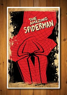 Retro Movie Poster - The Amazing Spiderman. $18.00, via Etsy.