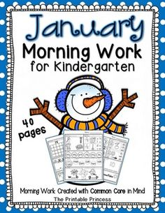 Please download the preview for a closer look at this packet.  Contains 20 reading and 20 math worksheets (40 student pages total). Great to use as morning work or homework. These activities are meant to be a review to what is already being covered in the classroom, therefore students are able to work independently to complete the activities.