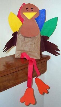 Various thanksgiving lesson ideas are found at this web page... but I just love this sassy paper bag turkey!