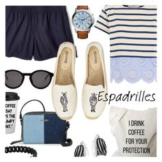 """""""Summer Espadrilles"""" by stacey-lynne ❤ liked on Polyvore featuring Sea, New York, Glitzy Rocks, Madewell, Nine West, Thierry Lasry, Soludos, Marc by Marc Jacobs and FOSSIL"""