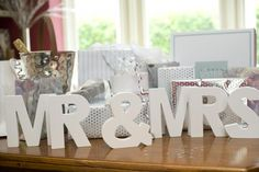 White Wooden Letters | Letters for Weddings - Pink Frosting Wedding Decorations perfect for bridal table can leave plain, wrap with twine or wool or spray paint in wedding colours