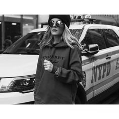 Woop-woop! That's the sound of da police! That's the sound of the beast  @burberry sweater via @stylebop | @cartier Panthére | @belstaff sunnies