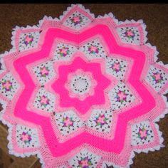 Baby afghan - This is made from my FREE pattern - beautiful job!  Pattern is free here: http://crochetbymonica.gather.com/viewArticle.action?articleId=281474977688297