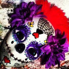 Dia de los muertos flower head mask
