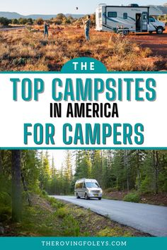 Are you planning your next camping trip? If you are let us help you with this awesome list of the best camping areas in the USA. This list includes RV parks from Texas to Florida, California to Michigan! Get as many of these top RV campgrounds on your RV travel destination list ASAP. The perfect campsite is waiting for you. #RVcamping #southeast #midwest #florida #usaroadtrip Best Places To Camp, The Places Youll Go, Rv Travel, Travel Destinations, Rv Campgrounds, Rv Parks, Road Trip Usa, Rv Life, Campsite