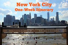 Our New York City One-Week Itinerary included visits to the major sights, as well as a few baseball games and local bars and restaurants.
