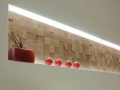 Modular indoor wooden 3D Wall Cladding MOSAICI D'ASOLO 3D by CP Parquet