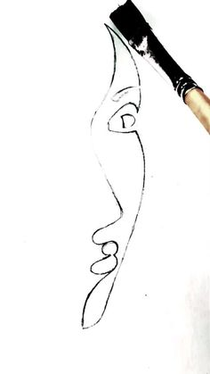 Art Drawings Beautiful, Art Drawings Sketches Simple, Easy Drawings, Visual Art Lessons, Face Line Drawing, Diy Canvas Art, Painting Lessons, Eye Art, Drawing Techniques