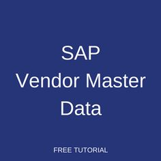 Tutorial about SAP Vendor Master Data in Materials Management. Learn about vendor master records in SAP MM, their functions, and how to create a new vendor. Purchase Department, Financial Accounting, Free Training, Management, Study, Studio, Learning, Research