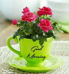 Beautiful good morning images with flowers Good Morning Happy Monday, Cute Good Morning, Good Morning Picture, Good Morning Flowers, Good Morning Greetings, Good Morning Beautiful Pictures, I Love You Pictures, Morning Pictures, Beautiful Morning