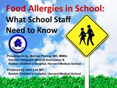 A great video to help educate school staff about food allergies and recognizing anaphylaxis..... I just emailed this to Emma's new preschool teacher.    This 30 minute module is designed to assist the school nurse in staff training and increase food allergy awareness for all school staff.