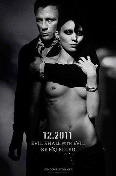 Girl with the Dragon Tattoo. Rooney Mara as Lisbeth Salander and Daniel Craig as Mikael Blomkvist