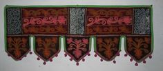 INDIAN COTTON VELVET WINDOW VALANCE TOPPER WALL HANGING TORAN DOOR DECOR VR23 #Handmade