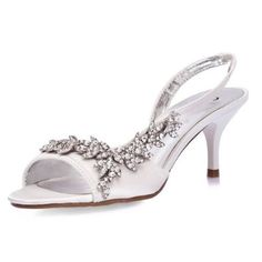 Cinnamon Kitten Heel Wedding Shoes - Pink - Paradox London