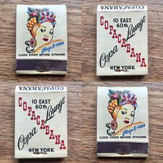 Copacabana #NYC #matchbook - To order your business' own advertising matches GoTo GetMatches.com