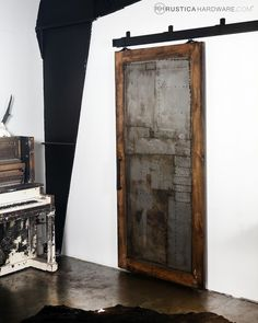 This would be great for my closet, I think. Steampunk Scrap Metal Door - http://RusticaHardware.com/