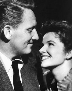 Spencer Tracy and Katharine Hepburn. What a great photo; look at the love between them.