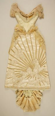 House of Worth Dress, Detail.