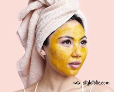 10 DIY Turmeric-Honey Face Mask Recipes For Glowing And Clear Skin - Looking for a way to make your skin radiant and beautiful? Check out this turmeric honey face mask - Clear Skin Face Mask, Glowing Face, Honey Facial Mask, Facial Masks, Turmeric And Honey, Turmeric Face Mask, Honey Face, Clean Face, Acne Skin
