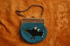 Vintage, small beaded purse..........goodness............crazy about this!