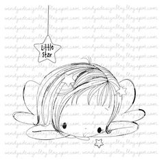 Little Star por alldressedupstamps en Etsy