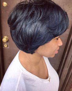 Short Layered Haircuts, Haircuts With Bangs, Short Bob Hairstyles, Short Hair Cuts, Black Hairstyles, Layered Hairstyle, Vintage Hairstyles, Wedding Hairstyles, Medium Hair Styles