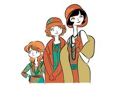 """Miss Phryne Fisher, """"Darling"""" Dot, and Jane."""