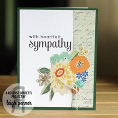 Five Sympathy Cards Leigh Penner @leigh148 @reverseconfetti @bazzillbasics #reverseconfetti #bazzillbasics #cards