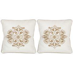 Safavieh Margherite Linen Throw Pillow