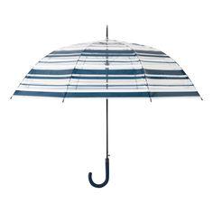 【雨傘】プリュイ ボーダー ビニール傘 65cm ネイビー(ネイビー) Francfranc(フランフラン)ファッション雑貨 レイングッズ 傘