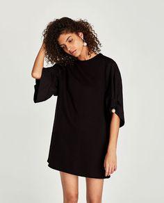 Zara robe noire perle