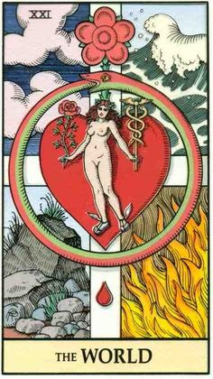 Alchemical Tarot, Robert M. Place..Divine forces combine to make their mark in the world. Triumph of completion. Realization of personal gifts. Individual Freedom.